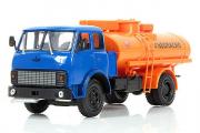 МАЗ-5334 автоцистерна АЦ-8, синий/оранжевый (1/43)
