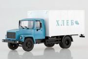 Горький-3307 фургон 'Хлеб', голубой/белый (1/43)