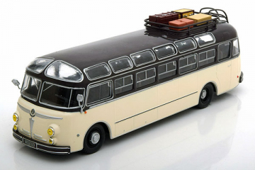 Автобус Isobloc 648 DP France 1955, бежевый/черный (1/43)