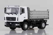МАЗ-5550 самосвал (рестайлинг) 4х2, белый/серый (1/43)