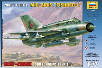 Самолет МИГ-21 Бис (1/72)