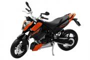 Мотоцикл KTM 690 Duke, оранжевый/черный (1/18)