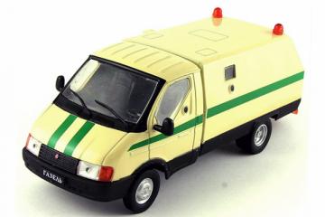 Горький-3302 'Ратник' Инкассация, бежевый/зеленый. Без блистера (1/43)