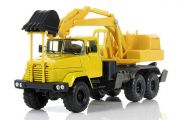 КрАЗ-6322 ЭО-4421 экскаватор, желтый (1/43)