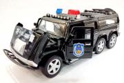 Hummer 6х6 'Полиция' (свет, звук), черный (1/32)