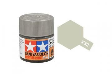 Краска X-32 титановая серебристая акрил глянцевая (Titanium Silver) 10 мл.