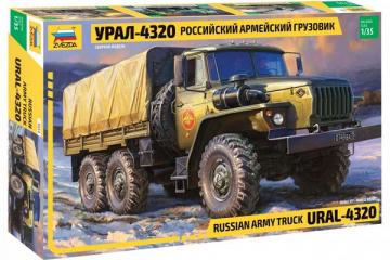 Автомобиль Урал-4320 бортовой с тентом (1/35)