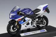Мотоцикл Suzuki GSX-R750, синий/белый (1/18)