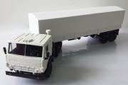 КАМАЗ-5410 тягач с полуприцепом ОДАЗ-9370 с тентом, белый (1/43)