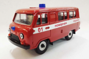 УАЗ-3962 'Пожарный', красный металл (1/43)