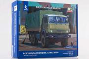Сборная модель КАМАЗ-53501 'Мустанг' бортовой с тентом 6х6 (1/43)