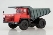 БЕЛАЗ-540А карьерный самосвал, красный/серый (1/43)