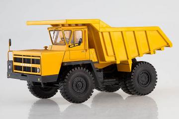 БЕЛАЗ-7522 поздний карьерный самосвал, желтый (1/43)