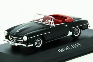 Mercedes-Benz 190 SL кабриолет 1955, черный. Треснут бокс (1/43)