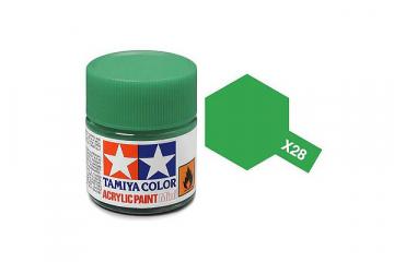 Краска X-28 травяная зеленая акрил глянцевая (Park Green) 10 мл.