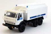 КАМАЗ-4310 с кунгом Полиция, белый/синий (1/43)