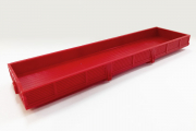 Платформа грузовая полуприцеп ОДАЗ-9370, красный (1/43)