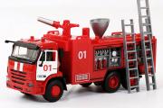 КАМАЗ-65115 пожарный (свет, звук), красный/белый (1/38)