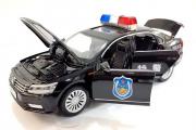 Volkswagen Police (свет, звук), черный (1/32)