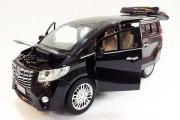 Toyota Alphard минивэн (свет, звук), черный (1/24)
