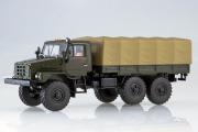 Урал-4322 бортовой с тентом, хаки (1/43)