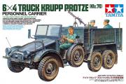 Автомобиль Krupp Protze 6x4 грузовой немецкий с тремя солдатами, пулеметом и инструментами (1/35)