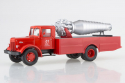 АГВТ-200 (МАЗ-200) пожарный, красный/серебристый (1/43)
