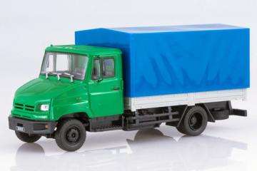 ЗИЛ-5301БО бортовой с тентом, зеленый/синий (1/43)