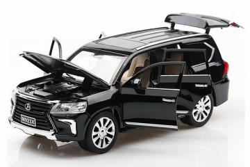 Lexus LX570 (свет, звук), черный (1/24)