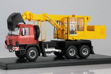 Tatra-815 экскаватор-планировщик UDS-114A, красный/желтый (1/43)