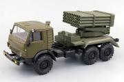КАМАЗ-5350 БМ-21 РСЗО 9К51 'Град', хаки (1/43)