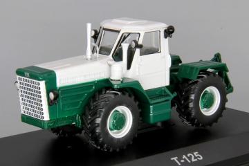 Трактор Т-125, белый/зеленый (1/43)