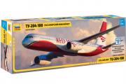 Самолет ТУ-204-100 пассажирский (1/144)