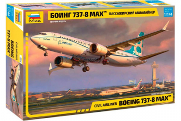 Самолет Боинг 737-8 MAX пассажирский (1/144)