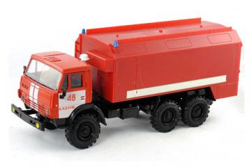 КАМАЗ-4310 с кунгом Пожарный, красный (1/43)