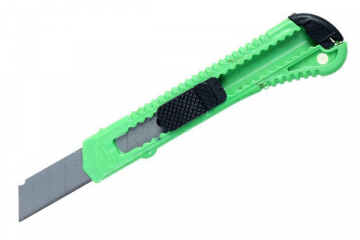 Нож канцелярский 18 мм пластик