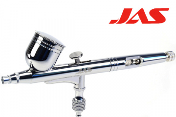 Аэрограф JAS 1113 (сопло резьбовое 0,3), емкость 7 мл