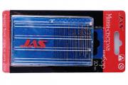 Сверла по металлу набор 'JAS' 20 шт. 0,3-1,6 мм HSS 6542, нитрид-титановое покрытие