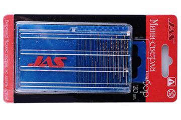 Сверла 0,3-1,6 мм JAS 4278 набор 20 шт. HSS 6542, нитрид-титановое покрытие