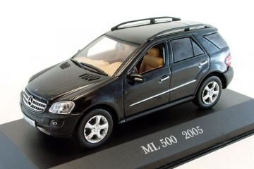 Mercedes-Benz ML 500 (W164) 2005, черный (1/43)