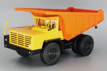 БЕЛАЗ-7510 самосвал-углевоз, желтый/оранжевый (1/43)