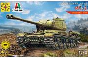 Танк ИС-2. ITALERI. Сборка без клея (1/72)