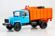 Горький-3307 мусоровоз КО-413, синий/оранжевый (1/43)