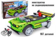 Конструктор р/у Гонка зеленый Championship, 187 деталей