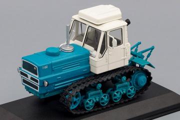 Трактор Т-150 гусеничный, голубой/белый (1/43)