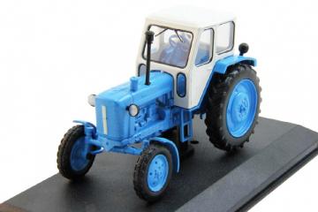 Трактор ЮМЗ-6А, синий/белый. Без блистера (1/43)