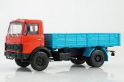 МАЗ-5337 бортовой, красный/синий (1/43)