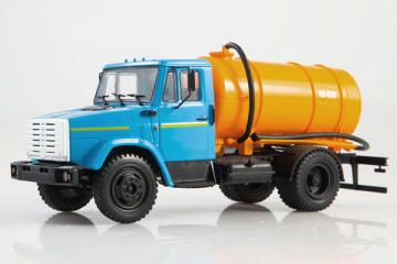 ЗИЛ-4333 КО-520 цистерна, синий/оранжевый (1/43)