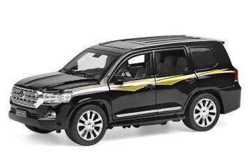Toyota Land Cruiser 200 (свет, звук), черный (1/24)