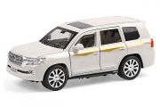 Toyota Land Cruiser 200 (свет, звук), белый (1/24)